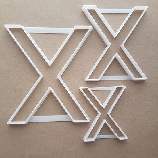 Alphabet Letter X Upper Shape Cookie Cutter Dough Biscuit Pastry Fondant Sharp Stencil Writing Case