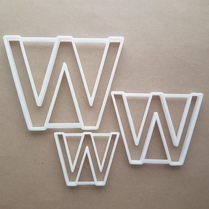 Alphabet Letter W Upper Shape Cookie Cutter Dough Biscuit Pastry Fondant Sharp Stencil Writing Case