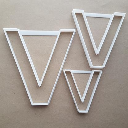 Alphabet Letter V Lower Shape Cookie Cutter Dough Biscuit Pastry Fondant Sharp Stencil Writing Case