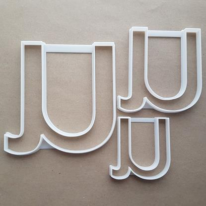 Alphabet Letter U Lower Shape Cookie Cutter Dough Biscuit Pastry Fondant Sharp Stencil Writing Case
