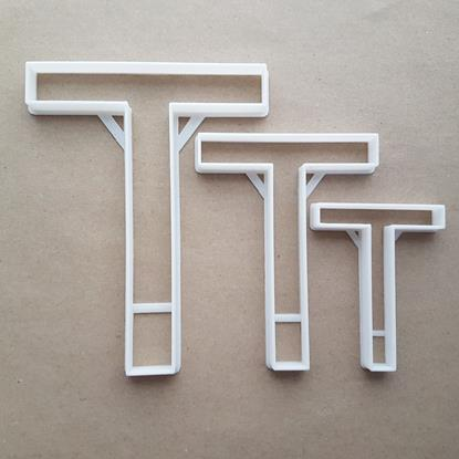 Alphabet Letter T Upper Shape Cookie Cutter Dough Biscuit Pastry Fondant Sharp Stencil Writing Case