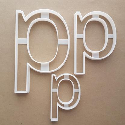 Alphabet Letter Q Lower Shape Cookie Cutter Dough Biscuit Pastry Fondant Sharp Stencil Writing Case
