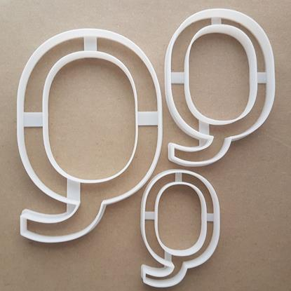 Alphabet Letter Q Upper Shape Cookie Cutter Dough Biscuit Pastry Fondant Sharp