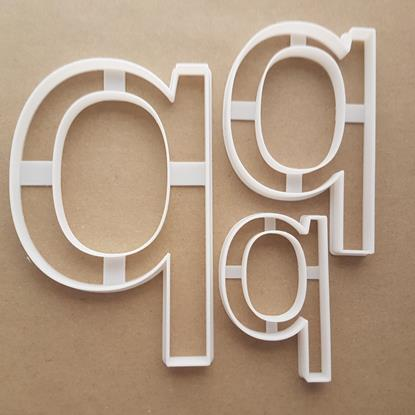 Alphabet Letter P Lower Shape Cookie Cutter Dough Biscuit Pastry Fondant Sharp Stencil Writing Case