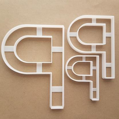 Alphabet Letter P Upper Shape Cookie Cutter Dough Biscuit Pastry Fondant Sharp Stencil Writing Case