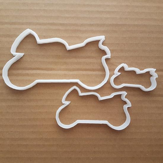 Motorbike Shape Cookie Cutter Dough Biscuit Pastry Motorcycle Vehicle Motor Bike Stencil Sharp Fondant Rally