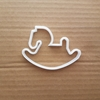 Rocking Horse Toy Antique Child Shape Cookie Cutter Dough Biscuit Pastry Stencil Sharp Baby Shower Fondant