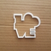 Love Cookie Cutter Heart Dough Biscuit Pastry Valentine's Day Loveheart Shape Stencil Fondant Sharp Dough Wedding Day Text