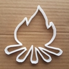 Campfire Shape Cookie Cutter Dough Biscuit Pastry Camping Outdoors Flames Logs Camp Fire Sharp Stencil Fondant Beach Cooking