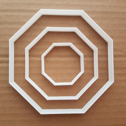 Octogon Frame Plaque Sign Shape Cookie Cutter Dough Biscuit Pastry Stencil Sharp Basic Octagon
