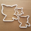 Cat Kitten Pet Feline Meow Shape Cookie Cutter Animal Biscuit Pastry Stencil Kitty Sharp Fondant Dough