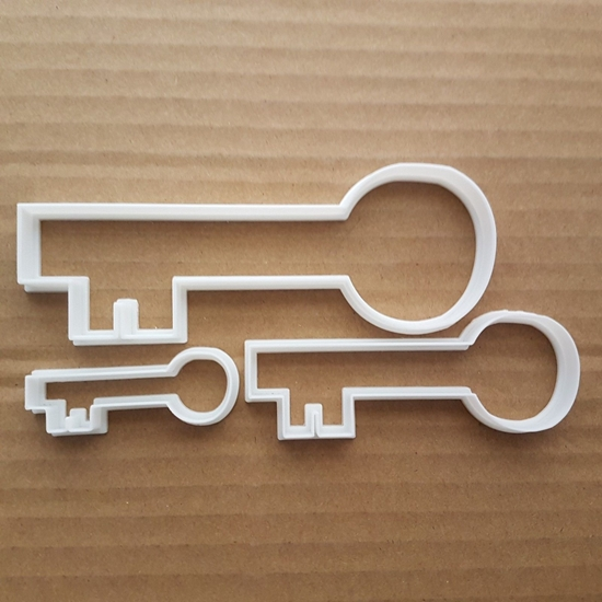 Key Lock Safe Pass Latch Opener Shape Cookie Cutter Dough Biscuit Pastry Stencil Sharp Fondant