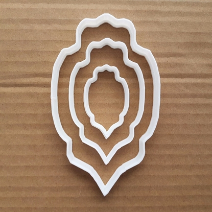 Plaque Bauble Decoration Shape Cookie Cutter Dough Biscuit Pastry Fondant Sharp Stencil Mirror Frame Name Plate
