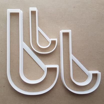Alphabet Letter J Upper Shape Cookie Cutter Dough Biscuit Pastry Fondant Sharp Stencil Writing Case