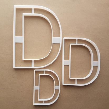 Alphabet Letter D Upper Shape Cookie Cutter Dough Biscuit Pastry Fondant Sharp Stencil Writing Case