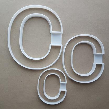 Alphabet Letter C Upper Shape Cookie Cutter Dough Biscuit Pastry Fondant Sharp Stencil Writing Case