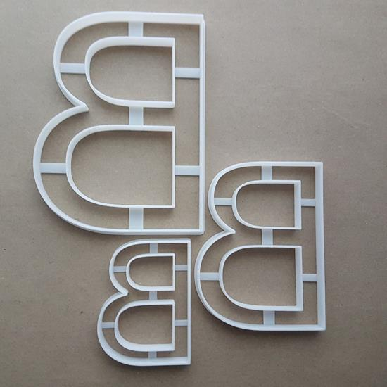 Alphabet Letter B Upper Shape Cookie Cutter Dough Biscuit Pastry Fondant Sharp Stencil Writing Case
