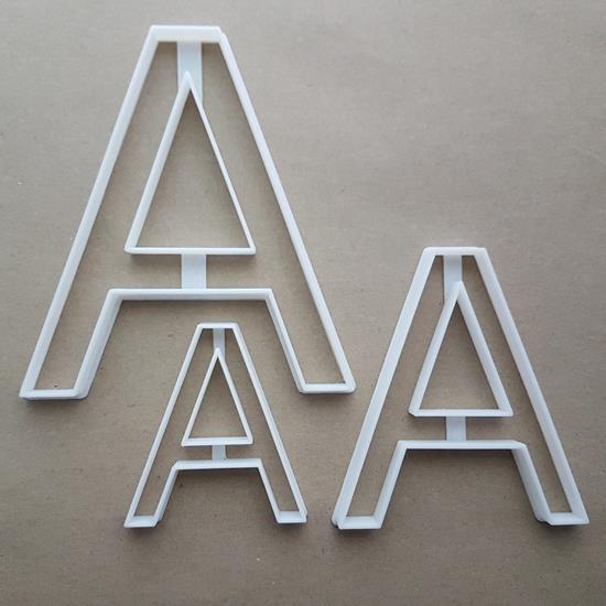 Letter A Capital Upper Shape Cookie Cutter Dough Biscuit Pastry Fondant Sharp Stencil Alphabet Writing