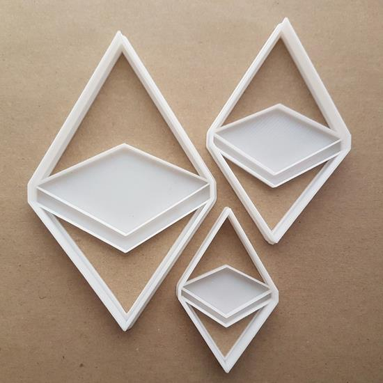 Ethereum ETH Crypto Currency Blockchain Shape Cookie Cutter Dough Fondant Sharp Stencil Electronic Cash Cryptocurrency Virtual