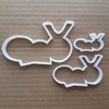 Ant Insect Antennae Shape Cookie Cutter Dough Biscuit Pastry Fondant Sharp Stencil Bug Critter Animal