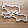 Hippopotamus Hippo Shape Animal Cookie Cutter Dough Biscuit Pastry Fondant Sharp Stencil