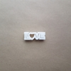 Love Heart Text Valentine Shape Cookie Cutter Dough Biscuit Pastry Fondant Sharp Stencil Writing Valentine's Day Wedding