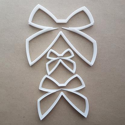Bow Tie Ribbon Gift Shape Cookie Cutter Dough Biscuit Pastry Fondant Sharp Stencil
