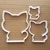 Cat Cookie Cutter Kitten Kitty Shape Pastry Dough Biscuit Feline Meow Animal Fondant Sharp Stencil Pet