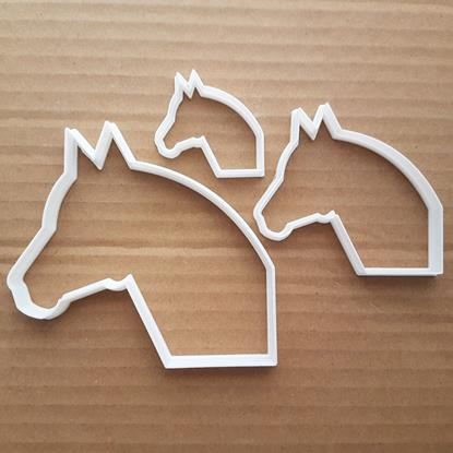 Horse Pony Steed Farm Animal Shape Cookie Cutter Dough Biscuit Pastry Stencil Sharp Fondant Stallion Head