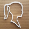 Girl Teenager Lady Silhouette Shape Cookie Cutter Dough Biscuit Pastry Stencil Sharp Fondant Ponytail Pony Tail
