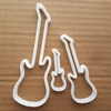 Guitar Bass Acoustic Electric Shape Cookie Cutter Music Biscuit Pastry Stencil Sharp Musical Instrument Fondant Dough