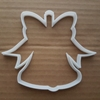 Bell Ribbon Chime Ring Shape Cookie Cutter Dough Biscuit Pastry Fondant Sharp Stencil Bow Xmas Christmas