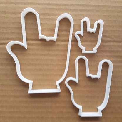 Hand Palm Heavy Metal Emoji Shape Cookie Cutter Dough Biscuit Pastry Stencil Sharp Rocker Music Rock N Roll