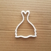 Dress Gown Skirt Lady Woman Shape Cookie Cutter Dough Biscuit Pastry Stencil Sharp Prom Evening Frock Ballgown Wedding Bridal