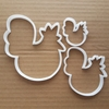 Chicken Hen Poultry Chick Farm Shape Cookie Cutter Animal Biscuit Pastry Stencil Fondant Dough Easter Sharp