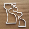 Cat Shape Cookie Cutter Kitty Biscuit Pastry Kitten Dough Feline Meow Animal Fondant Sharp Stencil Shape Pet