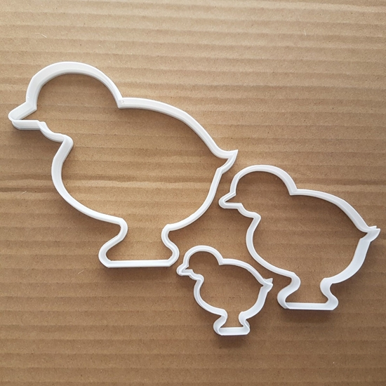 Chick Duckling Bird Farm Shape Cookie Cutter Dough Biscuit Pastry Fondant Sharp Stencil Easter Animal Chicken Duck