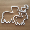 Deer Moose Antlers Bull Shape Cookie Cutter Dough Biscuit Pastry Fondant Sharp Reindeer Xmas Christmas