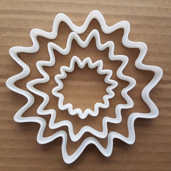 Splash Paint Splat Sun Shape Cookie Cutter Dough Biscuit Pastry Fondant Sharp Water Stencil Liquid