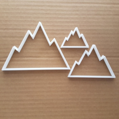 Mountain Hill Alp Glacier Summit Shape Cookie Cutter Dough Biscuit Fondant Sharp Stencil Cliff
