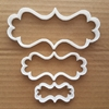 Plaque Frame Elongated Shape Cookie Cutter Dough Biscuit Pastry Fondant Sharp Stencil Mirror Name Plate Prize
