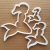 Mermaid Fantasy Fin Myth Shape Cookie Cutter Dough Biscuit Pastry Fondant Sharp Stencil Beach Ocean Sea Side Seaside