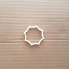 Award Shield Badge Shape Cookie Cutter Dough Biscuit Pastry Fondant Sharp Octagon Stencil Geometric