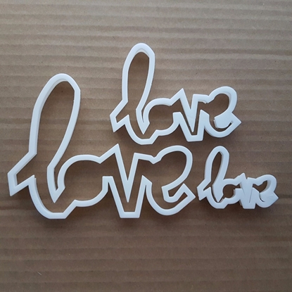 Love Letters Valentine Shape Cookie Cutter Dough Biscuit Pastry Fondant Sharp Stencil Valentine's Day Wedding Boyfrieng Girlfriend