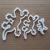 Lizard Reptile Chameleon Shape Cookie Cutter Dough Biscuit Pastry Fondant Sharp Stencil Gecko Gekko Animal