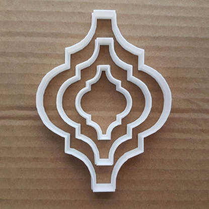 Arabesque Art Decoration Shape Cookie Cutter Dough Biscuit Pastry Fondant Sharp Stencil Frame Plaque Mirror