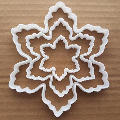 Snowflake Ice Shape Cookie Cutter Dough Biscuit Pastry Fondant Sharp Stencil Flake Xmas Christmas Snow Winter Weather