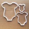 Baby Grow Body Suit Gro Shape Cookie Cutter Dough Biscuit Pastry Fondant Sharp Stencil Romper Bodysuit Clothing Shower Baptism Christening