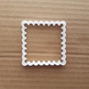 Square Plaque Frame Shape Cookie Cutter Dough Biscuit Pastry Fondant Sharp Stencil Mirror Prize Award Name Plate Scalloped