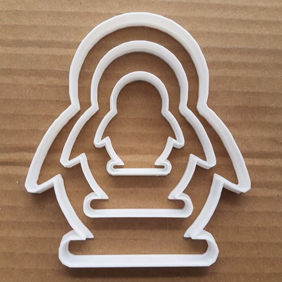 Penguin Winter Animal Shape Cookie Cutter Dough Biscuit Pastry Fondant Sharp Stencil Bird Snow